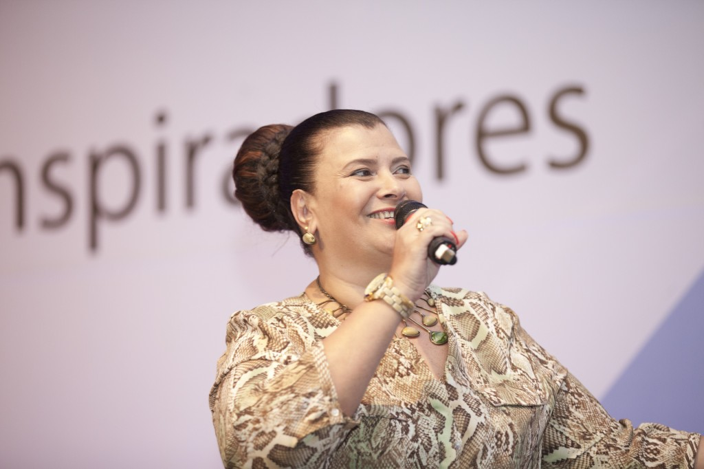 Solange Cruz durante palestra para o Valor PME 2015 - Líderes Inspiradores